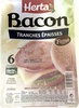 Bacon, Tranches épaisses (Fumé) 6 Tranches - Product