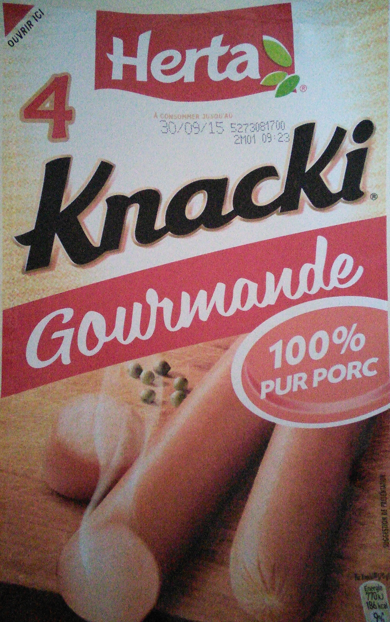 Knacki Gourmande Herta 100% Pur Porc - Product