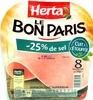 Le Bon Paris (- 25 % de sel, Cuit à l'Étouffée) 8 Tranches Fines - Produit