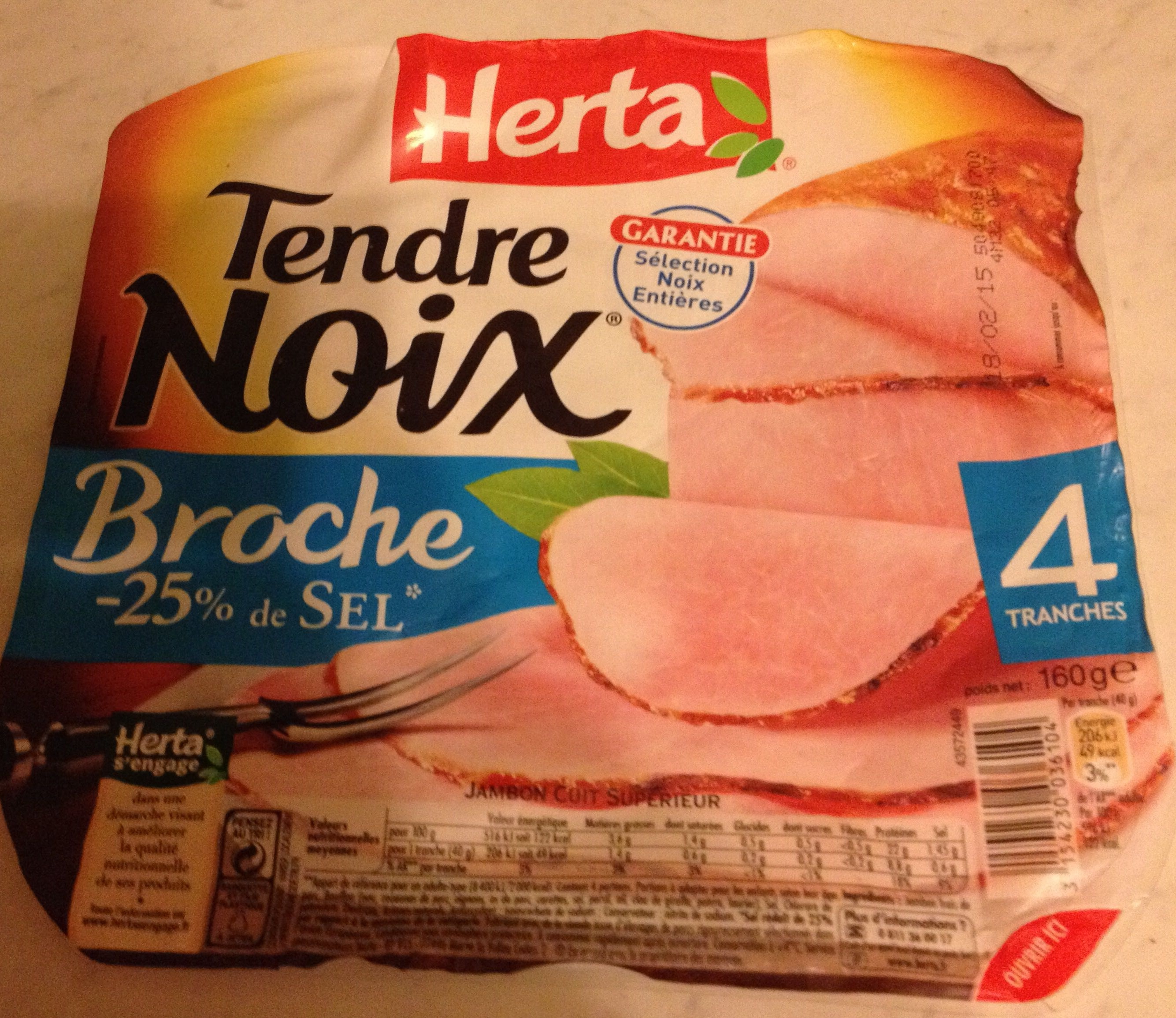 Tendre Noix, Broche (- 25 % de Sel) 4 Tranches - Product - fr