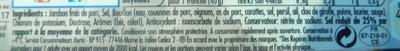 Tendre Noix, Broche (- 25 % de Sel) 4 Tranches - Ingredients - fr