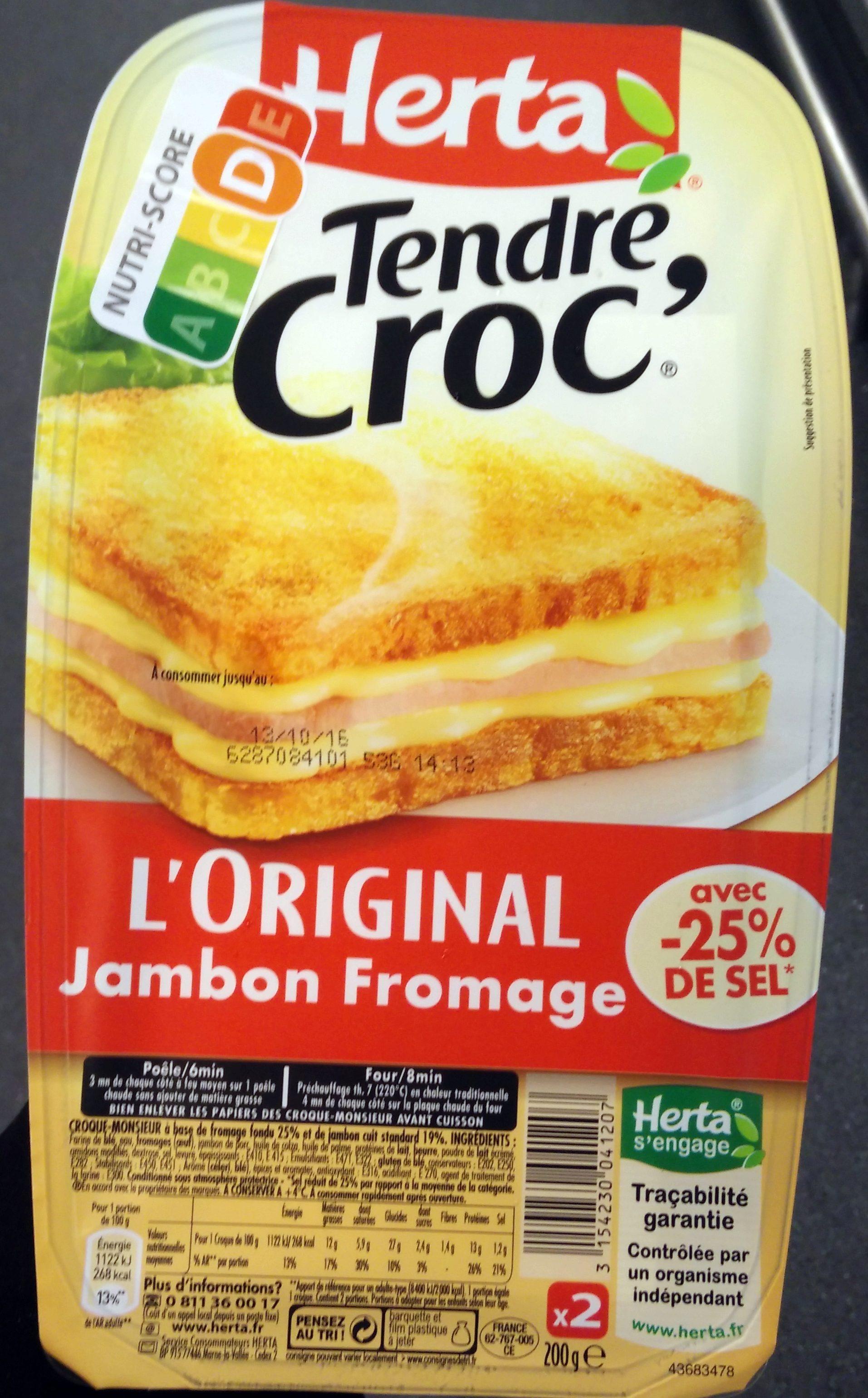 Tendre Croc' L'Original Jambon Fromage -25% de Sel - Produit - fr