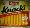 10 Original Knacki, 100 % Pur Porc (Sel Réduit de 25 %) - Product