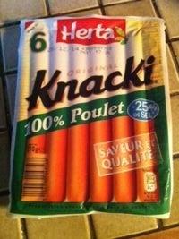 6 Original Knacki, 100 % Poulet (- 25 % de Sel) - Product