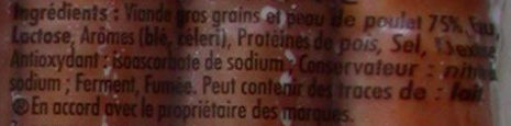 6 Original Knacki, 100 % Poulet (- 25 % de Sel) - Ingrediënten