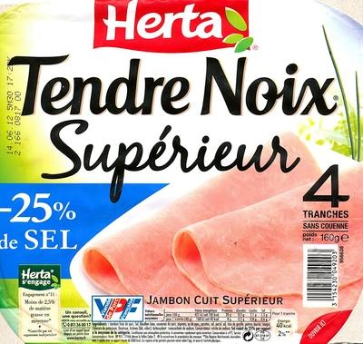 Tendre Noix, Supérieur (- 25 % de Sel) 4 Tranches Sans Couenne - Produit