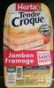 Tendre croque jambon fromage pain de mie sans croûte - Produit