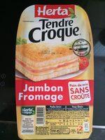 Tendre croque jambon fromage pain de mie sans croûte - Produit - fr