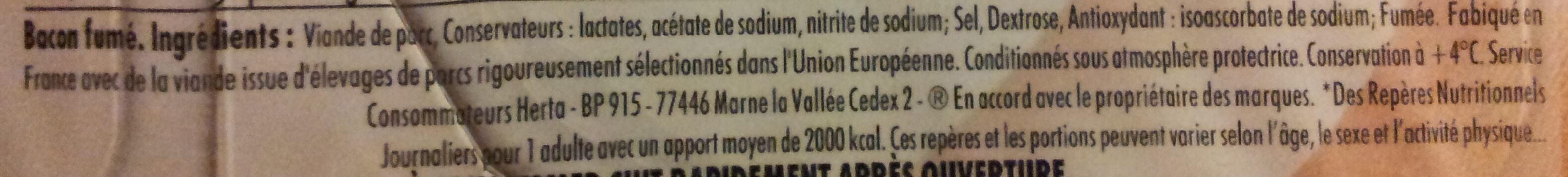 Allumettes de bacon - Ingrédients - fr
