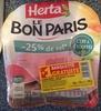 Le Bon Paris (- 25 % de sel, Cuit à l'Étouffée) 4 Tranches + 1 Barquette Gratuite - Produit
