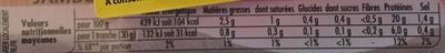 Le Bon Paris (- 25 % de sel, Cuit à l'Étouffée) 4 Tranches + 1 Barquette Gratuite - Informations nutritionnelles