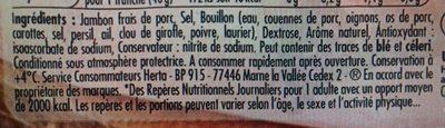Tendre Noix, au Torchon (4 Tranches Sans Couenne) - Ingrédients - fr