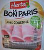 Le Bon Paris, Avec Couenne (4 Tranches) - Produit