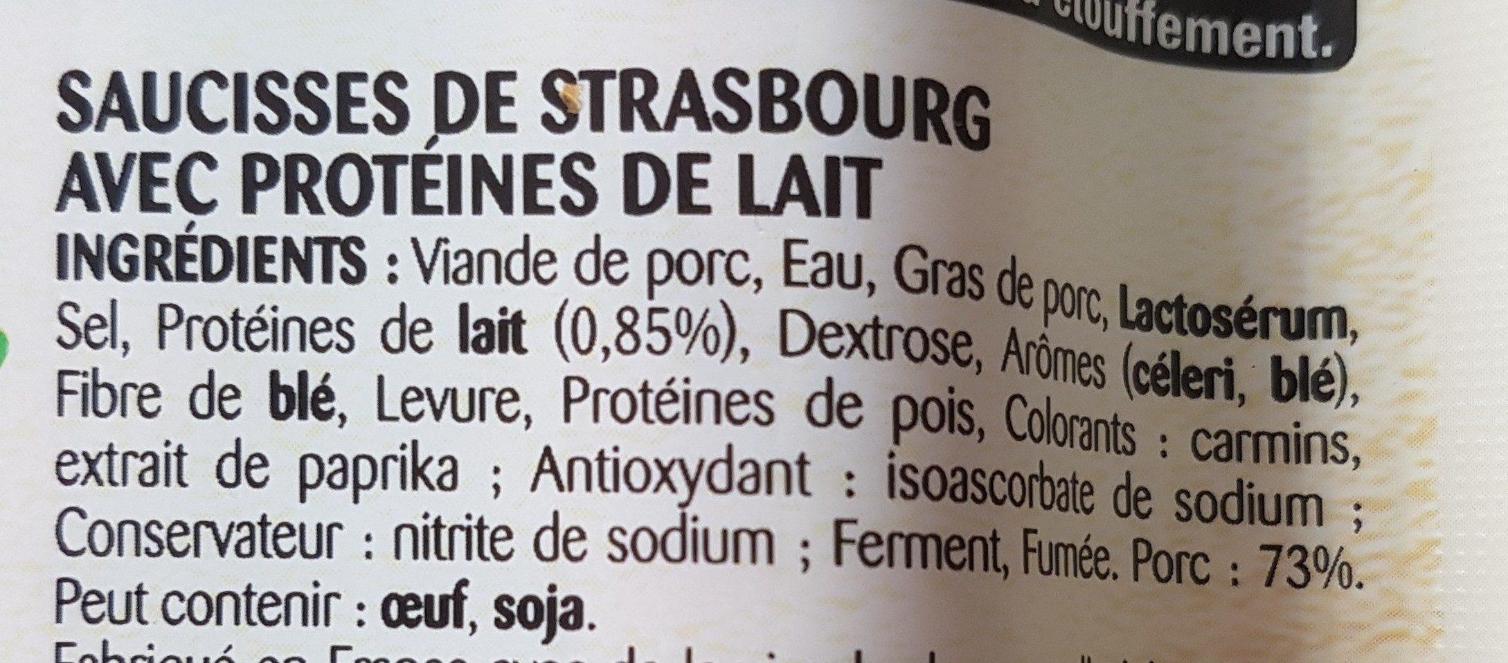 4 Knacki, Grillée - Ingrédients - fr