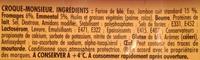 Tendre Croque, maXI Jambon Fromage (x 2) - Ingrédients