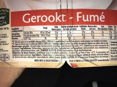 Bacon Allumettes - Ingredients - fr