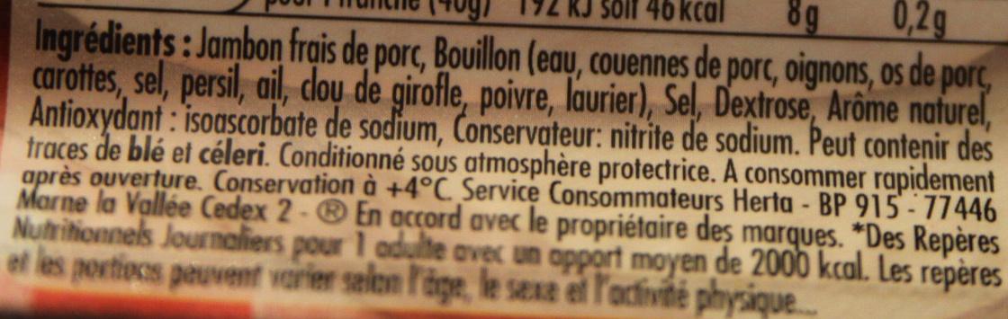 Tendre Noix, au Torchon (4 Tranches + 1 Gratuite) - Ingrédients - fr