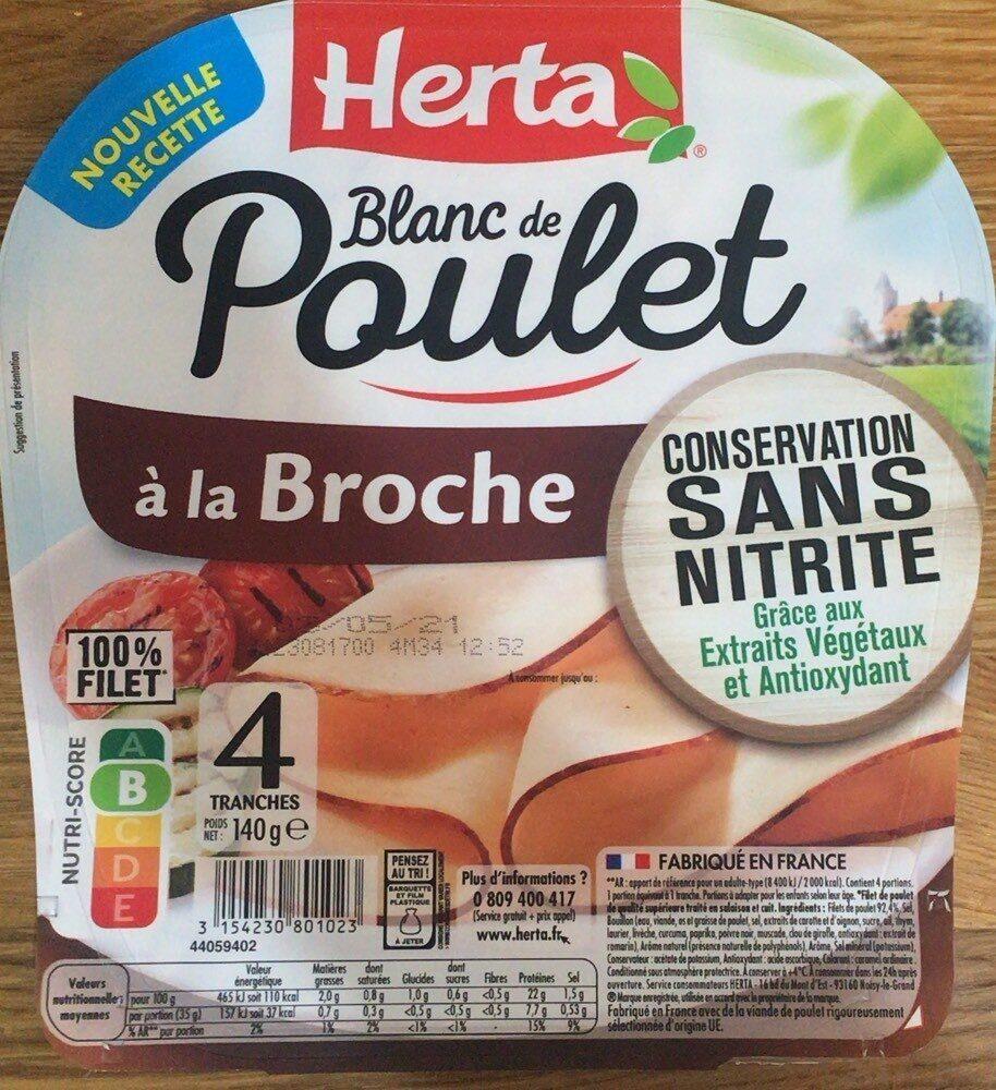 Blanc de poulet à la broche sans nitrite - Prodotto - fr