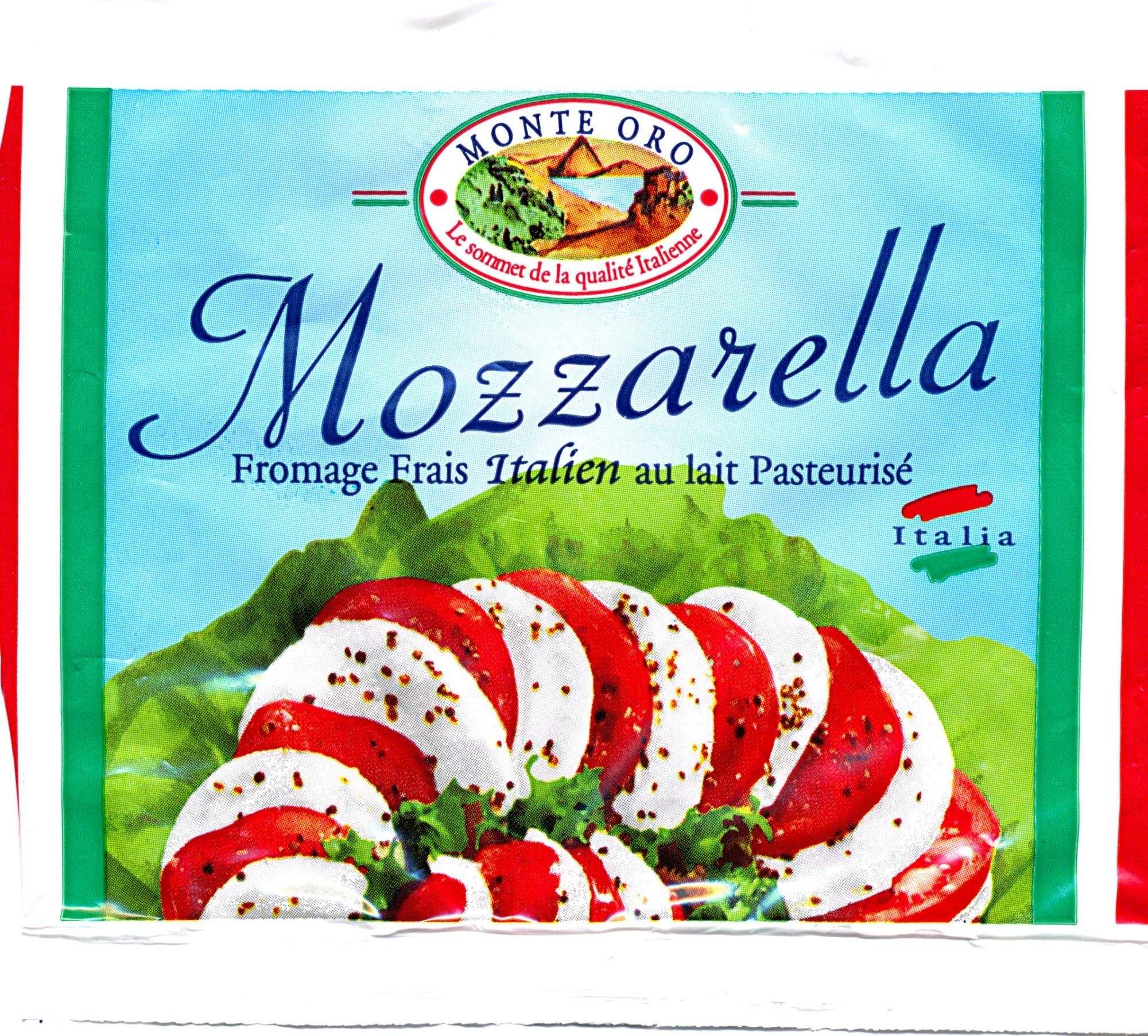 Mozzarella (18% MG) - 125 g - Monte Oro - Produit - fr