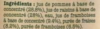 Pomme Framboise Fraise - Ingredients
