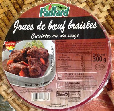 Paillard, Daube de joues de boeuf cuisinees au vin rouge, la barquette 300 g - Product
