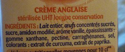 Crème anglaise - Ingrediënten
