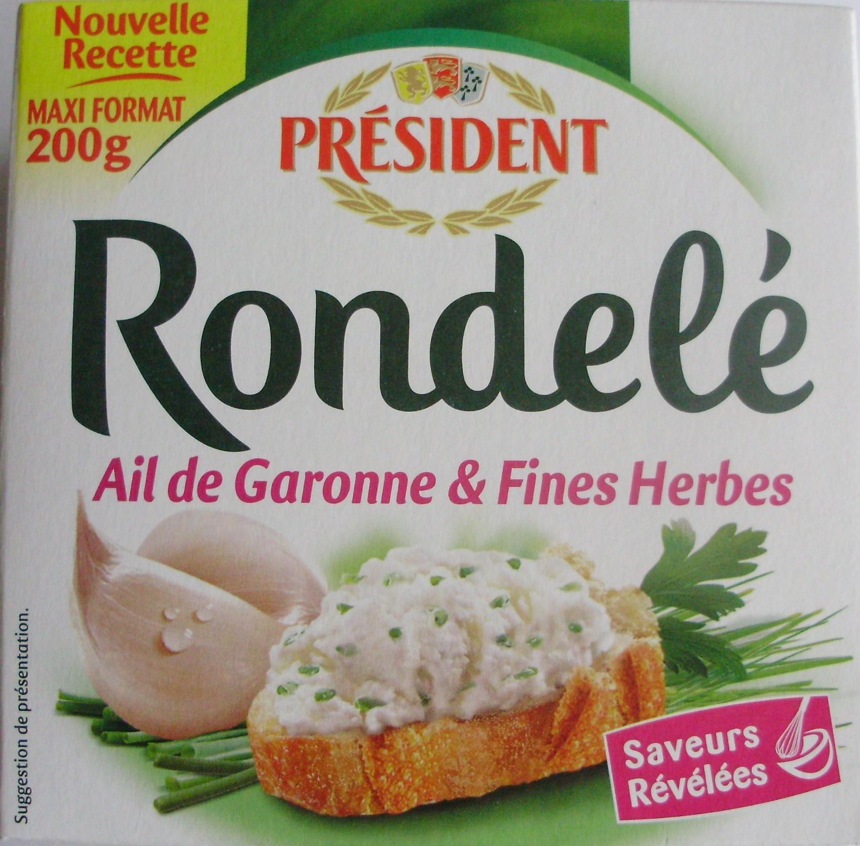 Rondelé Ail de Garonne & Fines Herbes (30 % MG) - Product