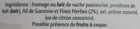 Rondelé Ail de Garonne & Fines Herbes (30 % MG) - Ingredients