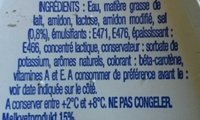 Bridelight Doux 15% de matiere grasse - Ingredients - fr