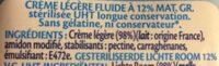 Crème Fraîche 12% - Ingrediënten - fr