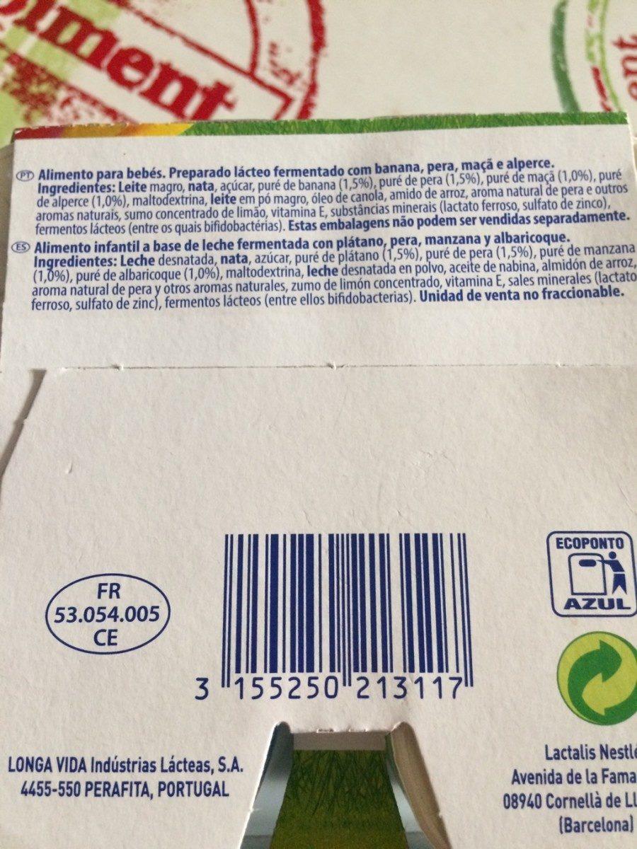 Nestlé Bebé - Ingredientes - fr