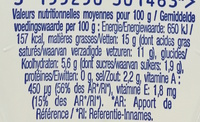 Bridelight demi-sel 15% mg - Nutrition facts - fr