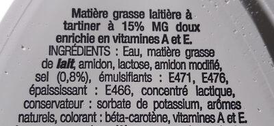 Matière grasse à tartiner - Ingredients - fr