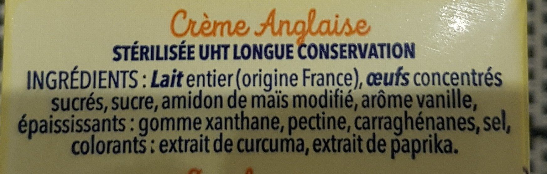 Ma crème Anglaise - Ingredienti - fr