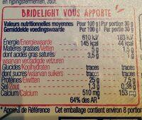 Bridelight - Nutrition facts - fr