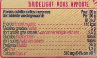 Bridelight (5%MG) - 350 g - Informations nutritionnelles