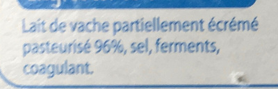 Fine ligne Fromage Allégé - Ingrediënten - fr