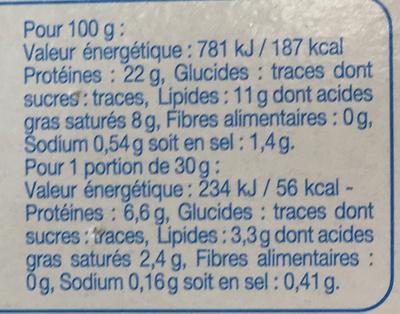 Fine ligne Fromage Allégé - Voedingswaarden - fr