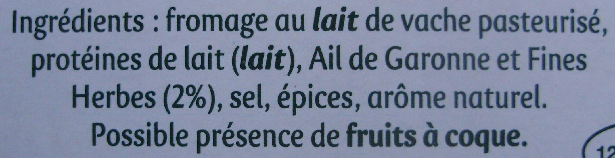 Rondelé Le Corsé (30 % MG) - Ingrédients - fr