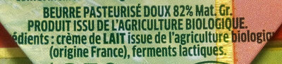 Le Beurre Bio Doux (82 % MG) - Ingredients - fr