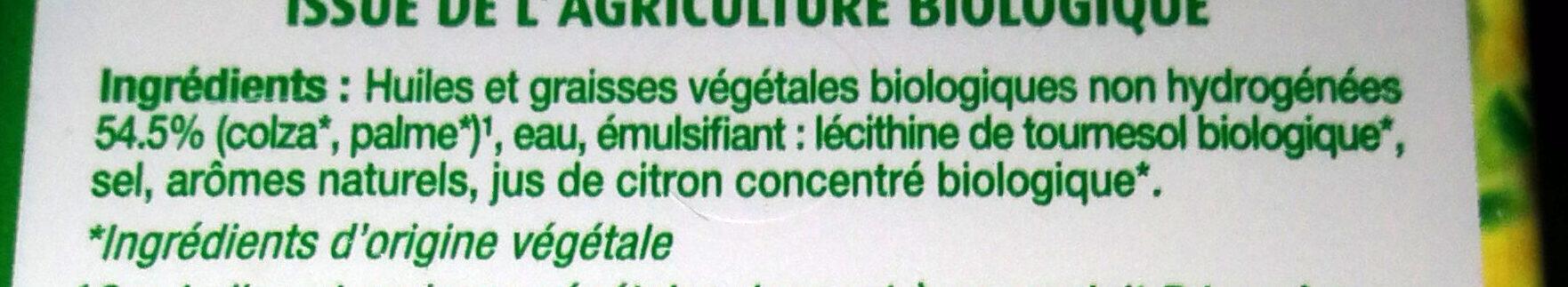Primevère Bio Tartine & Cuisson - Ingredients