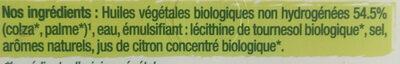 Primevère Bio doux Tartine & Cuisson - Ingrédients - fr