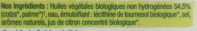 Primevère Bio doux Tartine & Cuisson - Ingredientes - fr