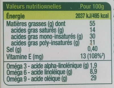 Primevère Bio Tartine & Cuisson - Nutrition facts - fr