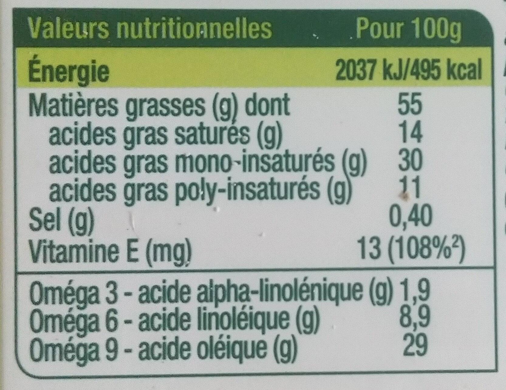 Primevère Bio Tartine & Cuisson - Informations nutritionnelles - fr