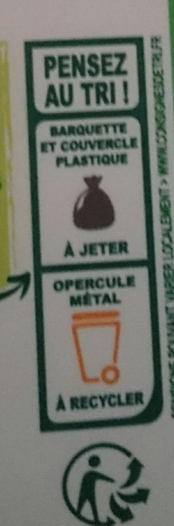 Primevère Bio doux Tartine & Cuisson - Instruction de recyclage et/ou information d'emballage - fr