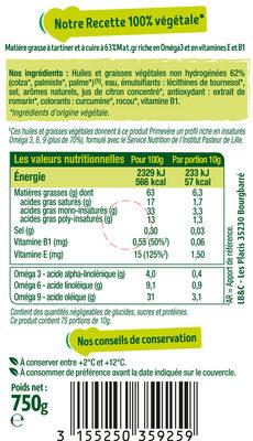 Primevère Tartine & Cuisson - Ingrédients