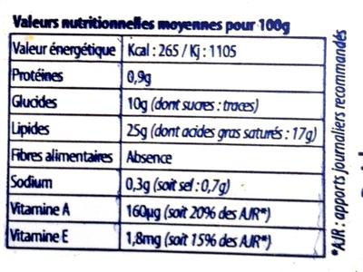 Bridelight doux (25% MG) - Informations nutritionnelles - fr