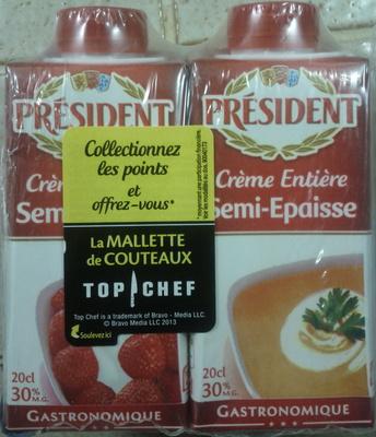 Crème Entière Semi-Épaisse (30 % MG) Gastronomique - Produit