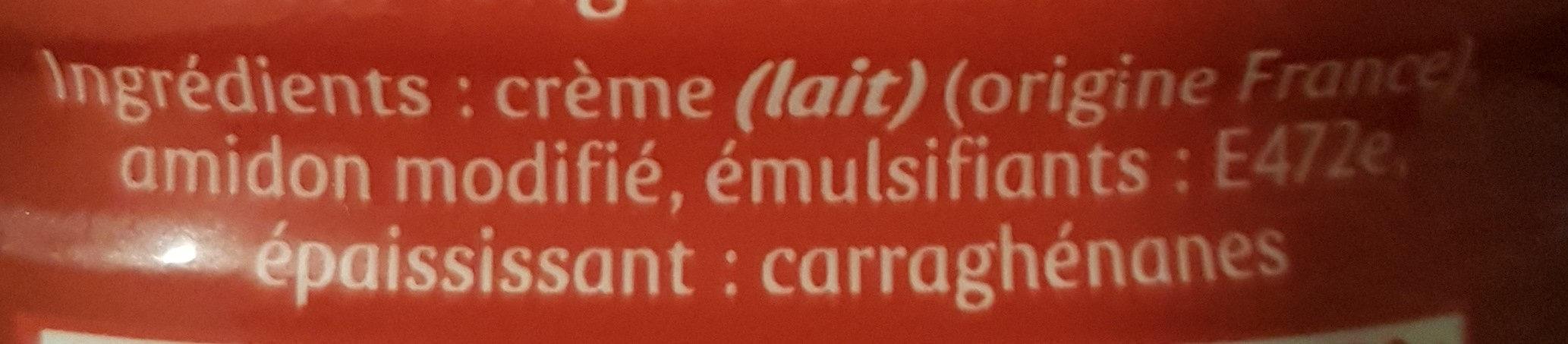 Crème entière semi-épaisse - Ingrediënten - fr